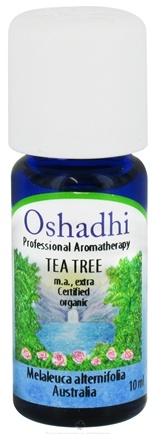 DROPPED: Oshadhi - Professional Aromatherapy Tea Tree Extra Certified Organic Essential Oil - 10 ml. CLEARANCE PRICED