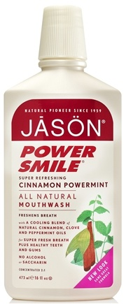 Jason Natural Products - Power Smile Cinnamon Mint Mouthwash - 16 oz.