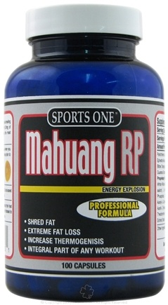 DROPPED: Sports One - Mahuang RP Energy Explosion Professional Formula - 100 Capsules UNPUBLISHED