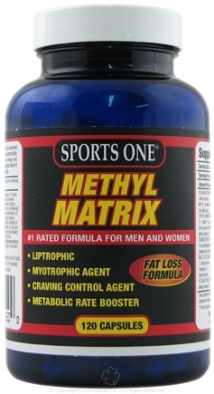 DROPPED: Sports One - Methyl Matrix Fat Loss Formula - 120 Capsules CLEARANCE PRICED