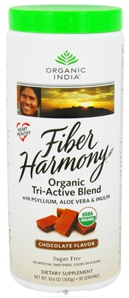 DROPPED: Organic India - Fiber Harmony Organic Tri-Active Blend Chocolate - 10.6 oz. CLEARANCE PRICED