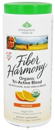 DROPPED: Organic India - Fiber Harmony Organic Tri-Active Blend Orange - 10.2 oz. CLEARANCE PRICED