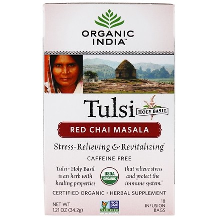 Organic India - Tulsi Tea Red Chai Masala - 18 Tea Bags