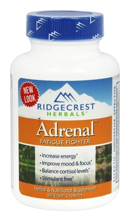 Ridgecrest Herbals - Adrenal Fatigue Fighter - 60 Vegan Caps