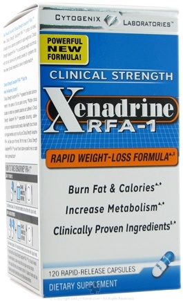 DROPPED: Cytogenix Laboratories - Cytogenix Laboratories Xenadrine RFA-1 Rapid Weight Loss - 120 Capsules