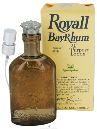 DROPPED: Royall Lyme Bermuda - Royall BayRhum All Purpose Lotion Natural Spray - 4 oz. CLEARANCE PRICED