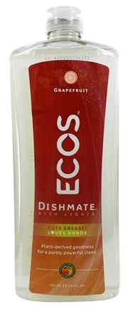 Earth Friendly - Dishmate Ultra Liquid Dishwashing Cleaner Natural Grapefruit - 25 oz.