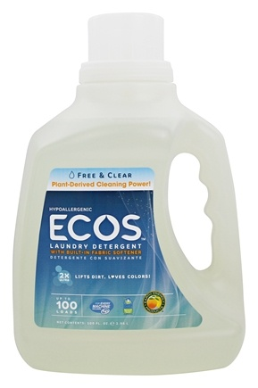 Earth Friendly - ECOS Ultra Laundry Detergent Free and Clear - 100 oz.