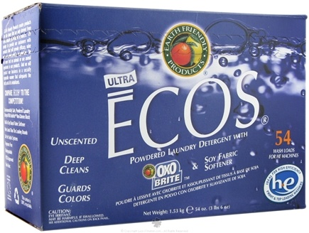 DROPPED: Earth Friendly - ECOS Ultra Powdered Laundry Detergent with Oxo Brite - 54 oz.