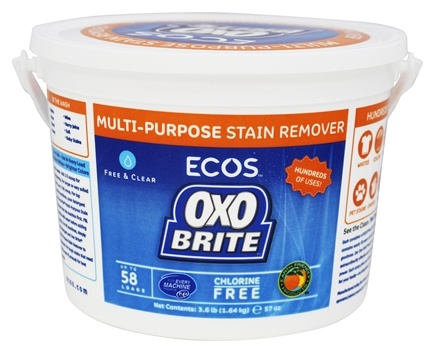 Earth Friendly - OXO Brite Color Safe Whitener & Brightener For Laundry & Stain Removal Fragrance-Free - 3.6 lbs.