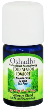 DROPPED: Oshadhi - Professional Aromatherapy Cold Season Comfort Synergy Blend Essential Oil - 5 ml. CLEARANCE PRICED