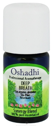 DROPPED: Oshadhi - Professional Aromatherapy Deep Breath Synergy Blend Essential Oil - 5 ml. CLEARANCE PRICED