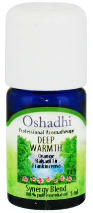 DROPPED: Oshadhi - Professional Aromatherapy Deep Warmth Synergy Blend Essential Oil - 5 ml. CLEARANCE PRICED