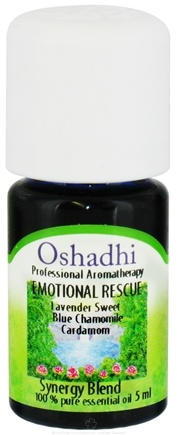 DROPPED: Oshadhi - Professional Aromatherapy Emotional Rescue Synergy Blend Essential Oil - 5 ml. CLEARANCE PRICED