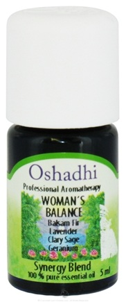 DROPPED: Oshadhi - Professional Aromatherapy Woman's Balance Synergy Blend Essential Oil - 5 ml. CLEARANCE PRICED