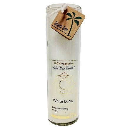 Aloha Bay - White Lotus Chakra Jar Candle Unscented - 17 oz.