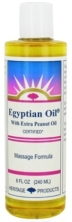 DROPPED: Heritage - Egyptian Oil With Extra Peanut Oil Massage Formula - 8 oz. CLEARANCE PRICED