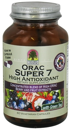 DROPPED: Nature's Answer - ORAC Super 7 High Antioxidant - 60 Vegetarian Capsules CLEARANCE PRICED