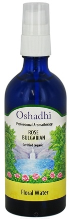DROPPED: Oshadhi - Professional Aromatherapy Floral Water Organic Bulgarian Rose - 100 ml. CLEARANCE PRICED