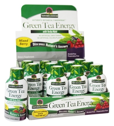 Nature's Answer - Green Tea Energy Shot with Yerba-Mate Mixed Berry - 2 oz.