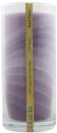 DROPPED: Aloha Bay - Violet Unscented Gemtones Jar Candle - 11 oz. CLEARANCE PRICED