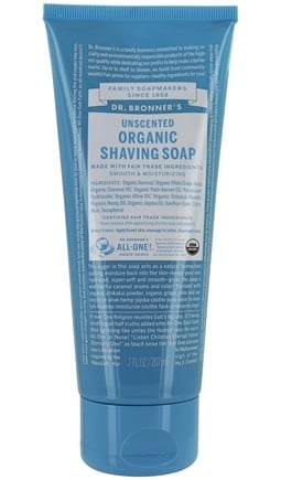 Dr. Bronners - Magic Shaving Soap Gel Organic Baby Unscented - 7 oz.