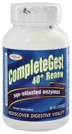 Enzymatic Therapy - CompleteGest 40+ Renew Age-Adjusted Enzymes - 60 Vegetarian Capsules