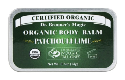 DROPPED: Dr. Bronners - Magic Organic Balm Patchouli Lime - 0.5 oz. CLEARANCE PRICED