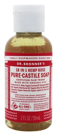 Dr. Bronners - Magic Pure-Castile Soap Organic Rose - 2 oz.