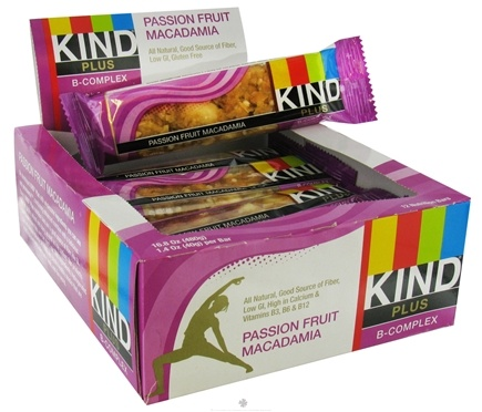DROPPED: Kind Bar - Plus B-Complex Nutrition Bar Passion Fruit Macadamia - 1.4 oz.