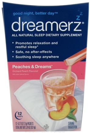 DROPPED: Dreamerz - Drink Mix Sleep Supplement Peaches & Dreams - 12 Packet(s)