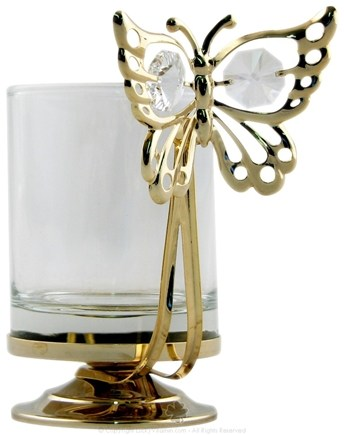 DROPPED: Aloha Bay - Gold Butterfly Votive Candle Holder