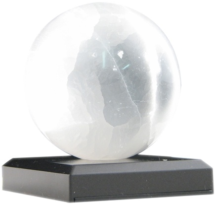 DROPPED: Aloha Bay - Selenite Crystal Ball with LED Light Base - CLEARANCE PRICED
