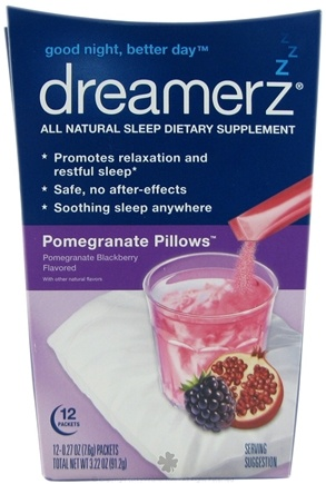 DROPPED: Dreamerz - Drink Mix Sleep Supplement Pomegranate Pillows - 12 Packet(s)