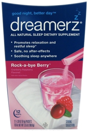 DROPPED: Dreamerz - Drink Mix Sleep Supplement Rock-a-bye Berry - 12 Packet(s)