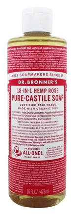 Dr. Bronners - Magic Pure-Castile Soap Organic Rose - 16 oz.