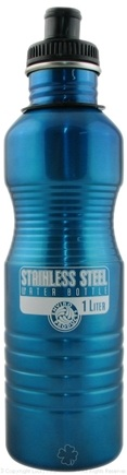 DROPPED: New Wave Enviro Products - Stainless Steel Water Bottle Turquoise - 1 Liter CLEARANCE PRICED