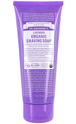 Dr. Bronners - Magic Shaving Soap Gel Organic Lavender - 7 oz.