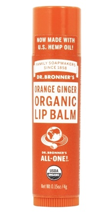 Dr. Bronners - Magic Organic Lip Balm Orange Ginger - 0.15 oz.
