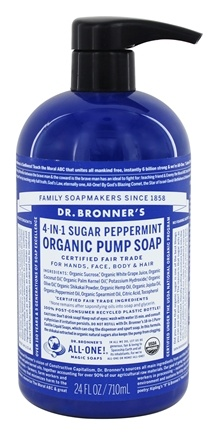 Dr. Bronners - Magic Shikakai Soap Organic Spearmint-Peppermint - 24 oz.