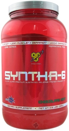 DROPPED: BSN - Syntha-6 Sustained Release Protein Powder Chocolate Mint - 2.91 lbs. CLEARANCE PRICED