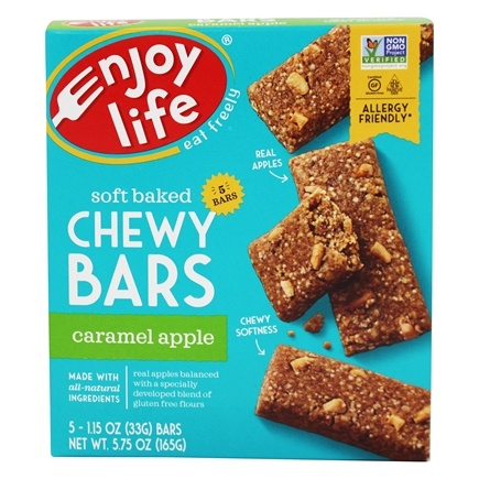 Enjoy Life Foods - Baked Chewy Bars Caramel Apple - 5 Bars