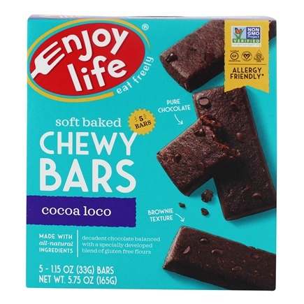 Enjoy Life Foods - Baked Chewy Bars Cocoa Loco - 5 Bars
