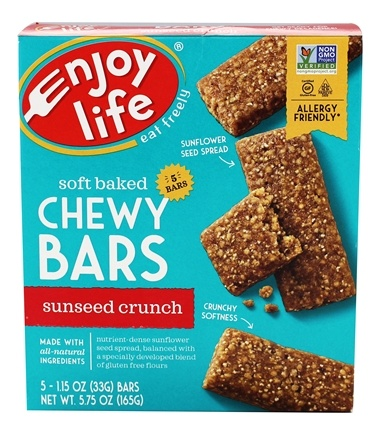 Enjoy Life Foods - Baked Chewy Bars Sun Butter Crunch - 5 Bars