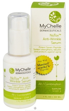 DROPPED: MyChelle Dermaceuticals - NoTox Anti-Wrinkle Serum with Matrixyl Synthe'6 Peptide All/Combination Step 3 - 1 oz.