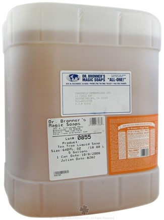 DROPPED: Dr. Bronners - Magic Pure-Castile Soap Organic Tea Tree - 5 Gallons