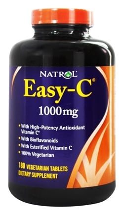 Natrol - Easy-C Vitamin C with Bioflavonoids 1000 mg. - 180 Vegetarian Tablets