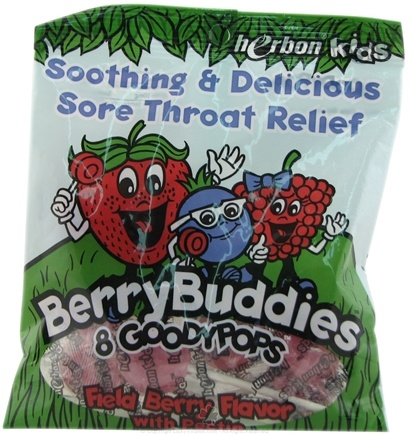 DROPPED: Herbon - Kids Berry Buddies Goodypops Field Berry Flavor - 8 Piece(s) CLEARANCE PRICED