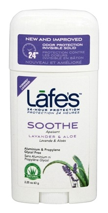 Lafes - Natural and Organic Deodorant Stick Lavender - 2.5 oz.