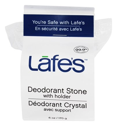 Lafes - Natural and Organic Deodorant Crystal Stone with Holder Fragrance-Free - 6 oz.